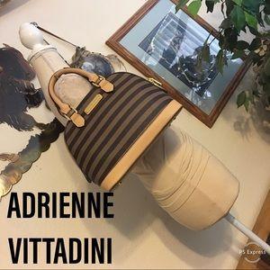 Adrienne Vittadini stripe satchel w/shoulder strap